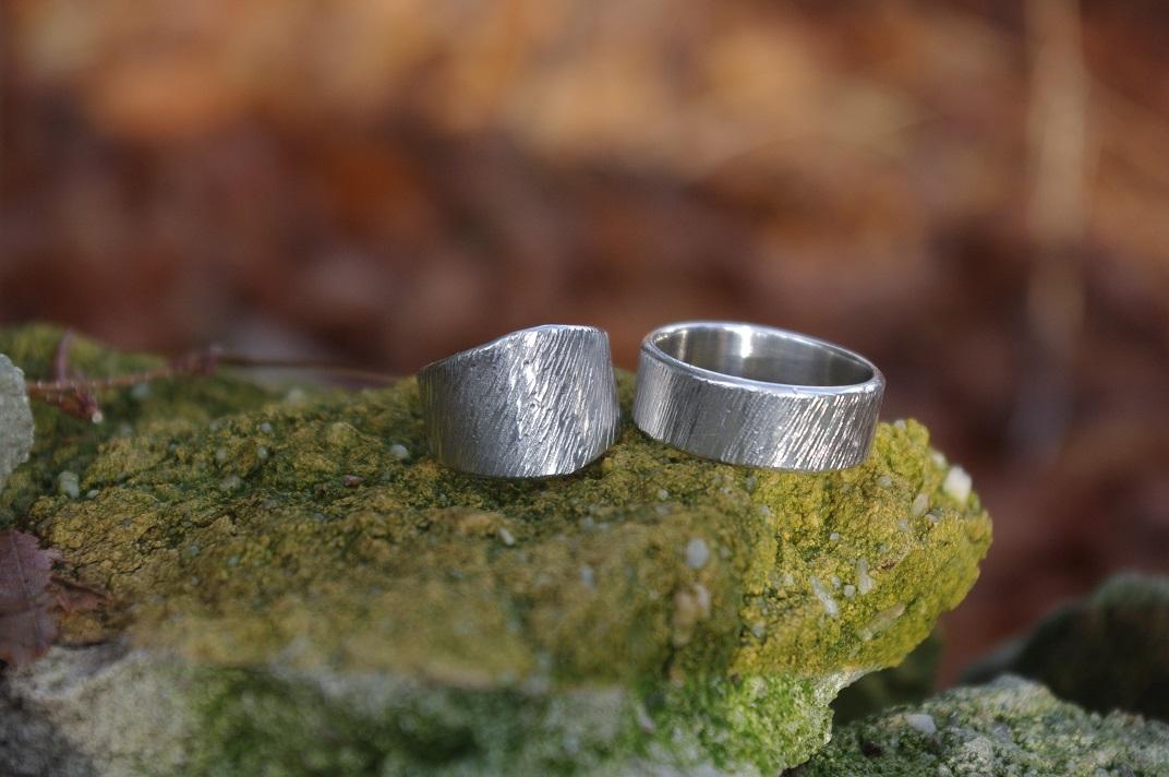 Geschliffene Silberringe